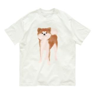 秋田犬【赤毛】 Organic Cotton T-shirts