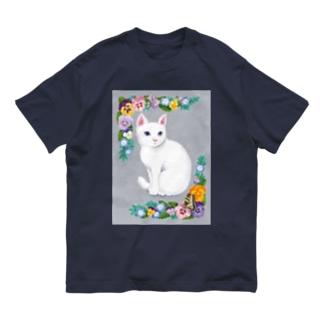 White cat Organic Cotton T-shirts