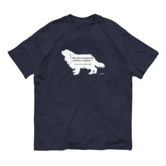🚩 キャバレスチャリティー 🚩キャバリア Family*cavalier_charity series' Organic Cotton T-shirts