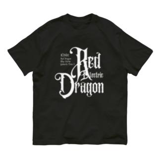 KIN81赤い電気の龍 Organic Cotton T-Shirt