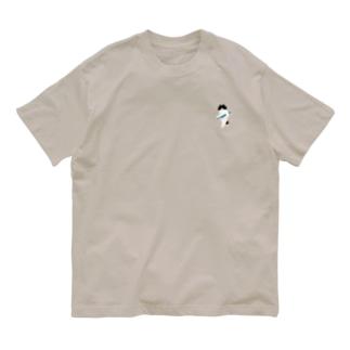 SUIMINグッズのお店の【小】盗んだサンマと歩き出す猫 Organic Cotton T-shirts