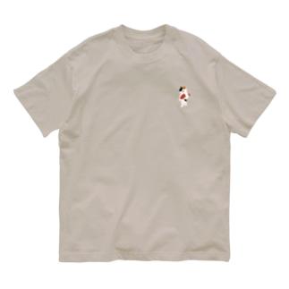 SUIMINグッズのお店の【小】まぐろの握り寿司を自慢げに持ち運ぶ猫 Organic Cotton T-shirts
