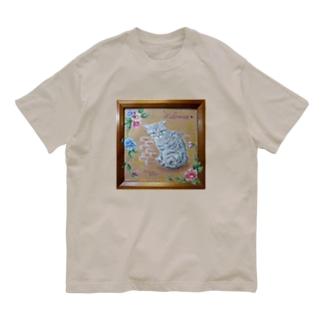 パンジーと仔猫 Organic Cotton T-Shirt