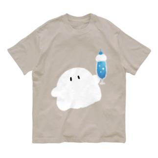 クリームソーダをくれるおばけちゃんズ Organic Cotton T-shirts