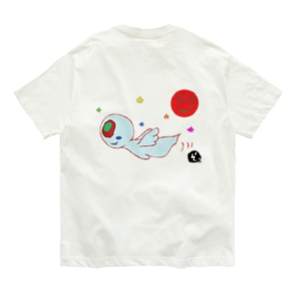 ★数量限定★ まんまるオバケちゃんのふわふわ空中散歩 Organic Cotton T-shirts
