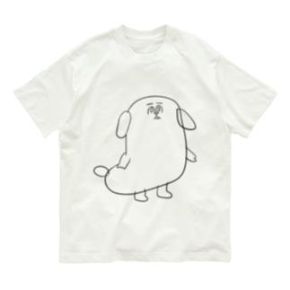 もじゃまる茫然 黒 Organic Cotton T-shirts