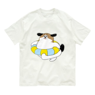 もじゃまるうきわ Organic Cotton T-shirts