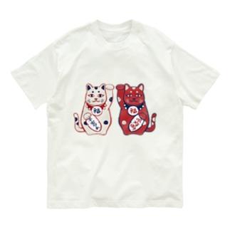 【日本レトロ#01】招き猫 Organic Cotton T-shirts