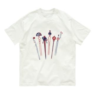 【日本レトロ#04】かんざし Organic Cotton T-shirts