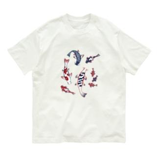 【日本レトロ#12】鯉  Organic Cotton T-shirts