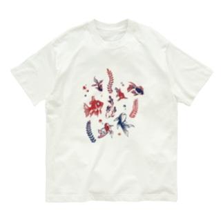 【日本レトロ#27】金魚 Organic Cotton T-shirts