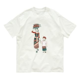 【バリの人々】お母さんと子供 Organic Cotton T-Shirt