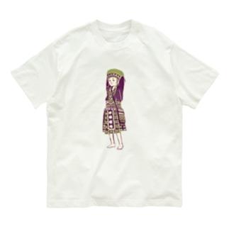 【タイの人々】モン族の女の子 Organic Cotton T-Shirt