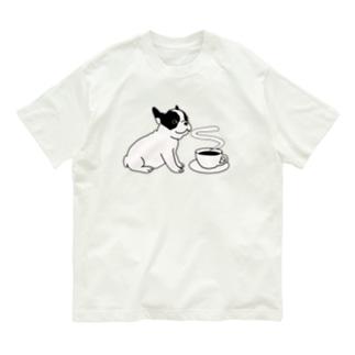 フレンチブルドッグとコーヒー Organic Cotton T-Shirt