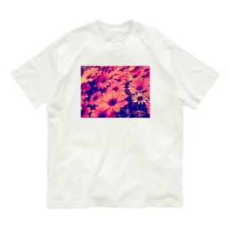 水滴つややくお花 Organic Cotton T-shirts