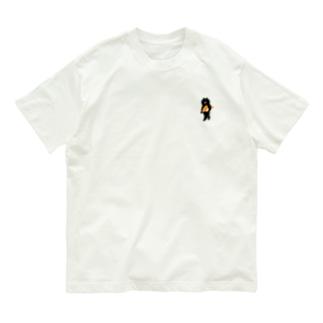 【小】サーモンの握り寿司をかっこよく持ち運ぶ猫 Organic Cotton T-shirts