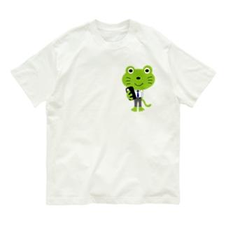 カエルネコくん Organic Cotton T-shirts