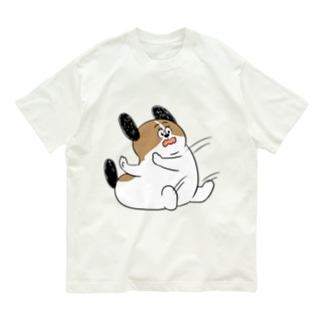もじゃまるしりもち Organic Cotton T-shirts