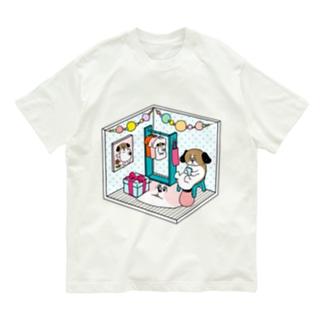 もじゃまるくつろぎ Organic Cotton T-shirts