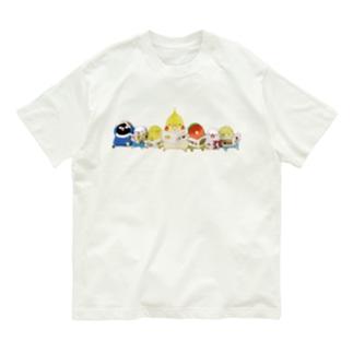 ハミングピッピの絵本を読むインコちゃん Organic Cotton T-shirts