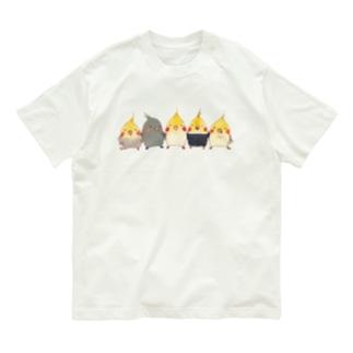 ハミングピッピのオカメちゃん集合ー! Organic Cotton T-shirts