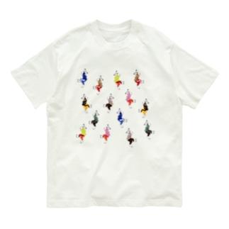 うさダンス総柄 Organic Cotton T-shirts