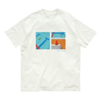 プールにアボカドとスイカ Organic Cotton T-shirts