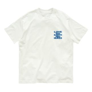 胸ロゴ LOVE the EARTH NO NUKES T Organic Cotton T-shirts