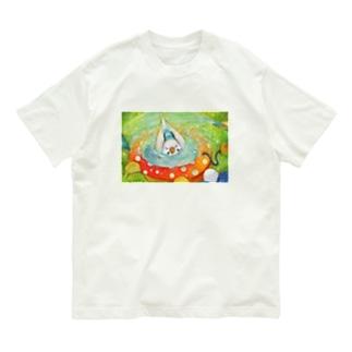 ハミングピッピの水浴び大好き! Organic Cotton T-shirts