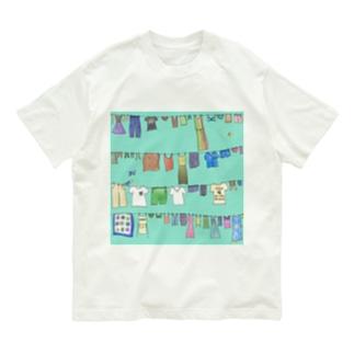 まちを彩る洗濯物 Organic Cotton T-Shirt