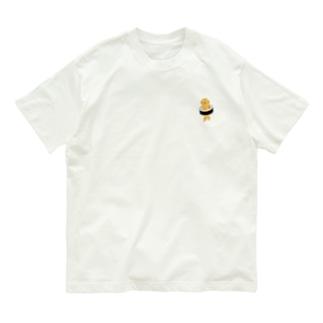 【小】太巻きを自らに巻きつけて運ぶ猫 Organic Cotton T-shirts
