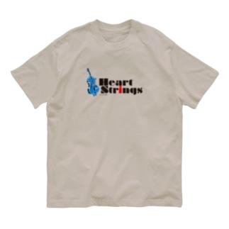 Heart Strings (Woodbass) Blue Organic Cotton T-shirts