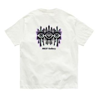 Melting eyes_hologram Organic Cotton T-shirts
