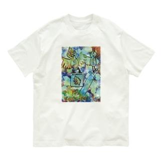 コウノ鳥がワクチンを配布 Organic Cotton T-shirts
