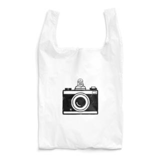 カメラとレスラー(モノクロ) Reusable Bag
