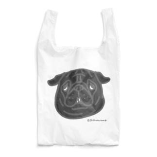 黒パグちゃん Reusable Bag