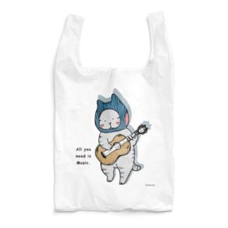 ギターねこ Reusable Bag