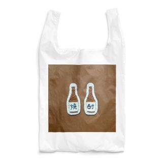 刺繍で作った焼酎 Reusable Bag