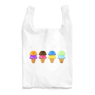 カラフルアイスクリーム Reusable Bag