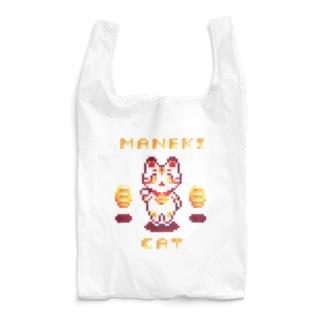 ドット招き猫 Reusable Bag