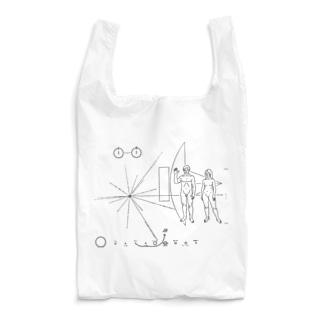 パイオニア探査機の金属板 Reusable Bag