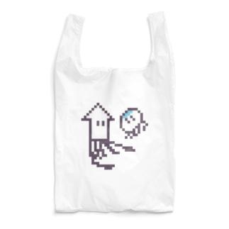 イカとクラゲ Reusable Bag