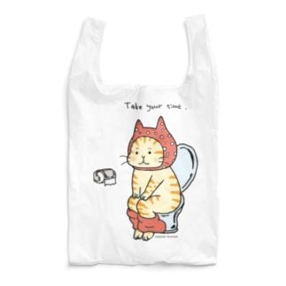 トイレねこ オレンジ Reusable Bag
