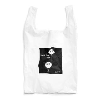 まん丸男  Round face man Reusable Bag