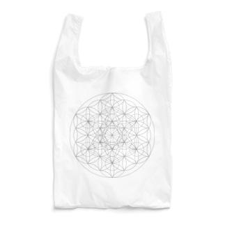 フラワー・オブ・ライフ& メタトロンキューブ Reusable Bag