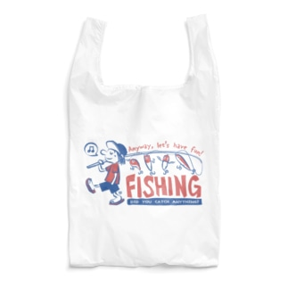 釣りをとにかく楽しもう!_レトロ Reusable Bag