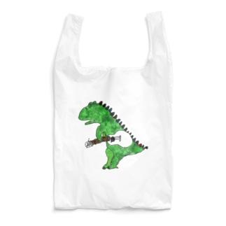 恐竜とウクレレ Reusable Bag