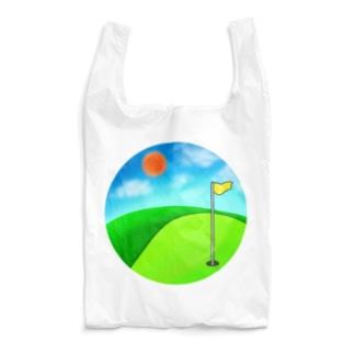 晴れのゴルフ場(修正版) Reusable Bag