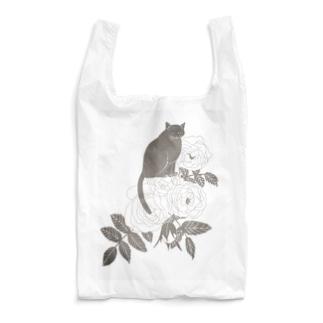モノクロ調ミルクティーローズ Reusable Bag