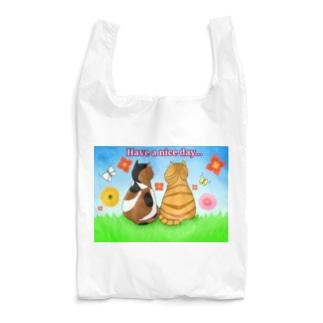 仲良し猫さん 英語ロゴ付き Reusable Bag